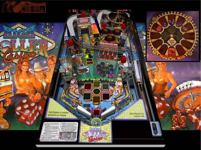 Flipper vPinball High Roller Casino